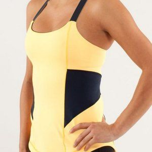 Lululemon Athletica Work It Out Tank BurningYellow